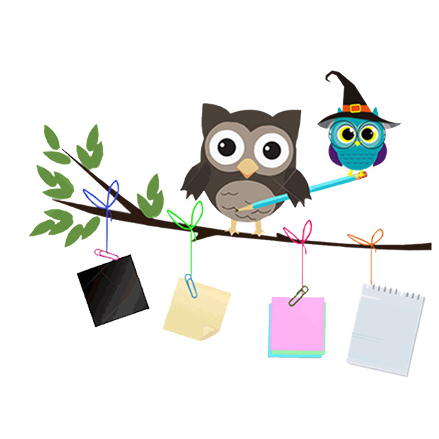 Aliexpress.com : Buy PVC Cute Cartoon Sticker Owl Tree