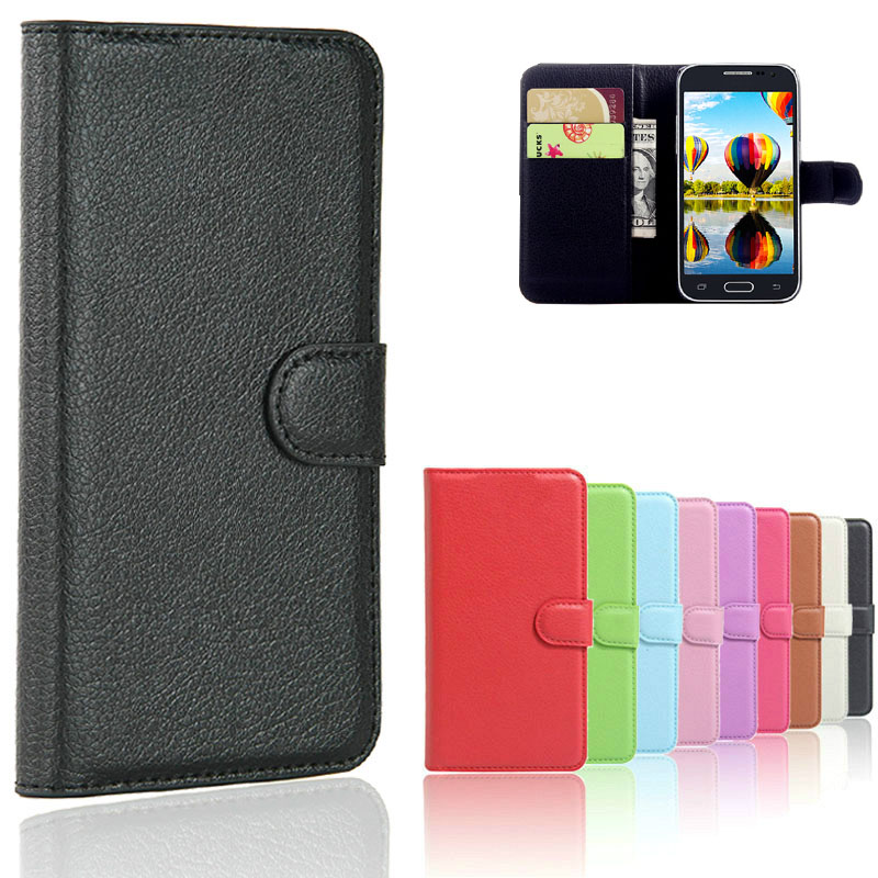 Leather Wallet Case For <font><b>Samsung</b></font> <font><b>Galaxy</b></font> <font><b>Core</b></font> <font><b>Prime</b></font> G360 G360F <font><b>G360H</b></font> G361 G361F G361H SM-G361H SM-<font><b>G360H</b></font> SM-G361F Case Flip Cover image