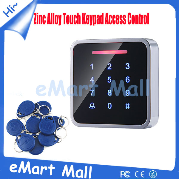 ФОТО 3000 User Zinc Alloy Touch Keypad Standalone Access Controller ID/EM Password Keypad rfid Access Control