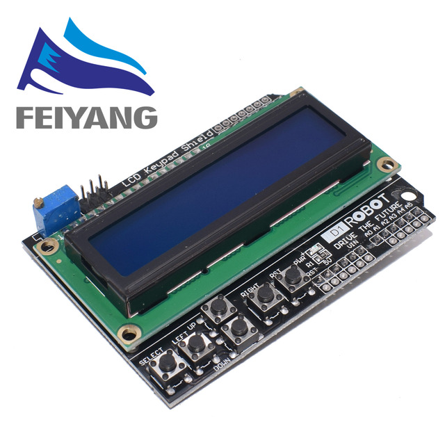 10PCS 1602 LCD 디스플레이 modulle 키패드 쉴드 Duemilanove 16*2 LCD1602