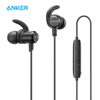 Anker SoundBuds In Ear Sport Earbuds Magnetic Wireless Bluetooth Headphones With 8 Hour Playtime Noise Cancellation