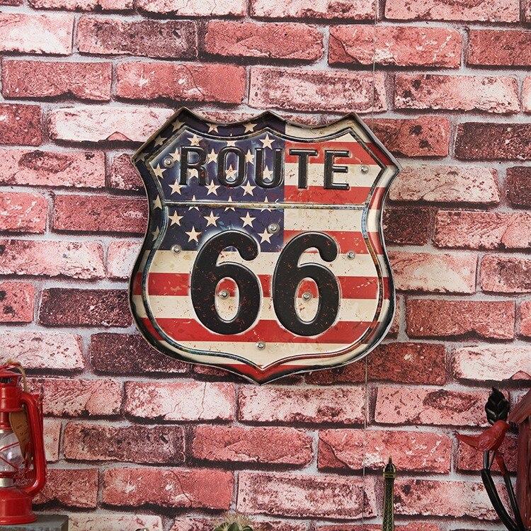 Неоновые вывески Route 66 со старой славой неоновый светильник открытые вывески Ретро Бар Клуб Настенный декор подвесной Route 66 Led металлический