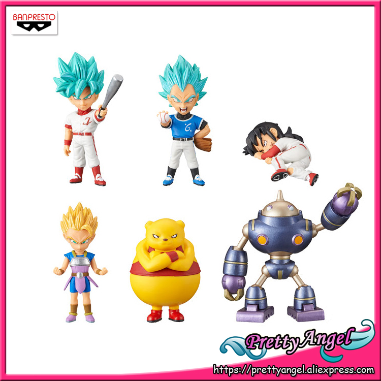 Véritable Banpresto Monde Collectionner Figure/WCF Vol.8 Dragon Ball SUPER Lot de 6 pièces Goku Vegeta Yamcha Collection Figure