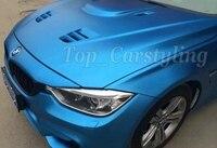 Wholsale Aluminum Blue Matte Chrome Car Wraps Chrome Matte Blue Wrapping Vinil Foile Car Decals With