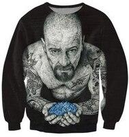 Women Men 3d Inked Heisenberg Crewneck Sweatshirt Tattooed Breaking Bad Walter White Fashion Clothing Sport Tops