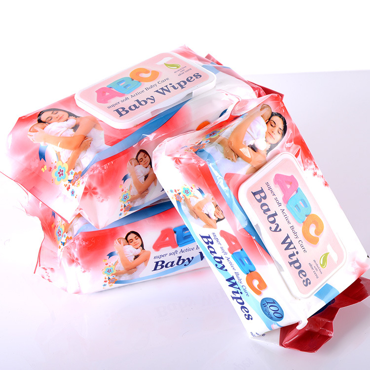 100 baby wipes 50g thick pearl print baby wet wipes