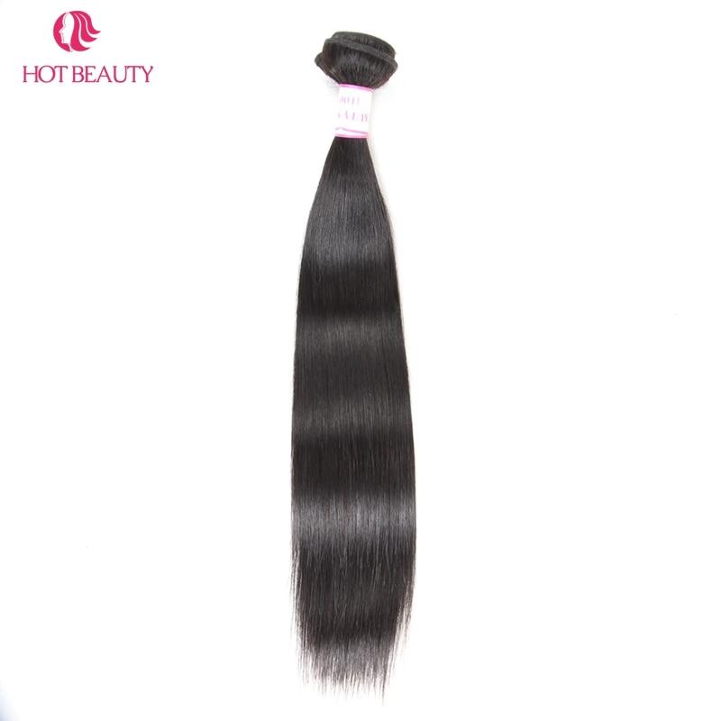 Hot Beauty Hair Peruvian Straight Hair Weave Bundles 10-28 Inch 1 Piece Natural Color Remy Menneskehår Kan Mix Køb 3 eller 4 Bundle