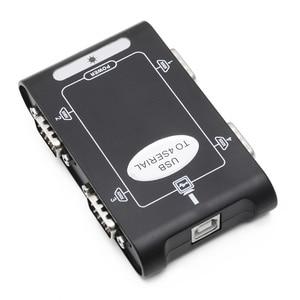 Image 2 - 9pin rs232 usb 2.0 a 4 portas serial db9 com controlador conectores adaptador hub
