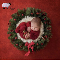 Newborn Baby Christmas Theme Photography Backdrop Props Infant bebe fotografia Accessories Baby Boy Photo Shoot Christmas Basket