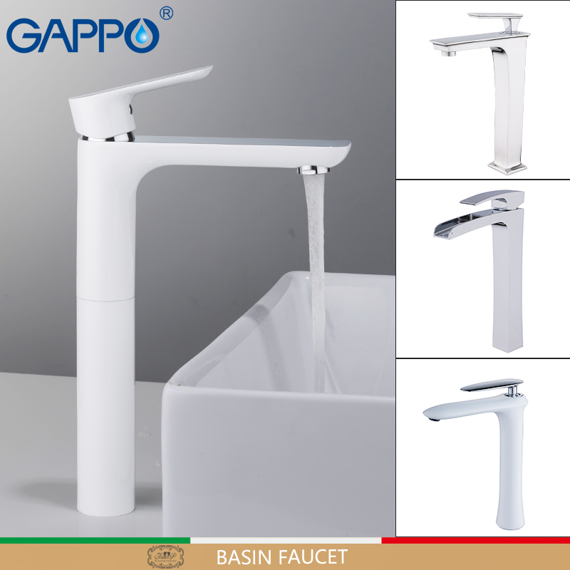GAPPO Basin Faucets Waterfall Tall Faucets Basin Mixers Sink Taps Bathroom Faucet Water Tap Rainfall Mixer Griferia