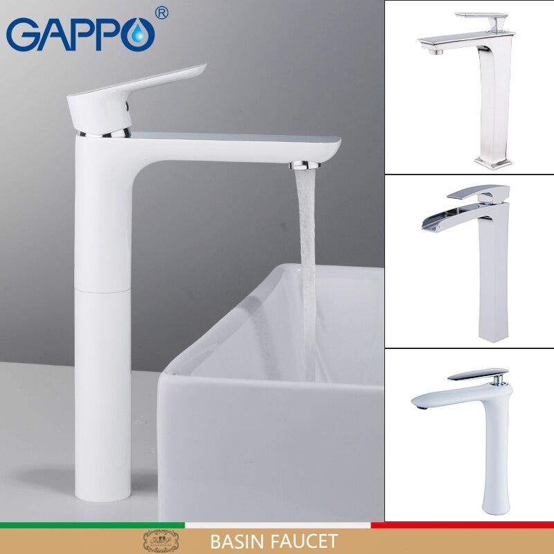 GAPPO robinets de bassin cascade robinets hauts mélangeurs de bassin robinets d'évier robinet de salle de bains robinet d'eau mélangeur de pluie griferia