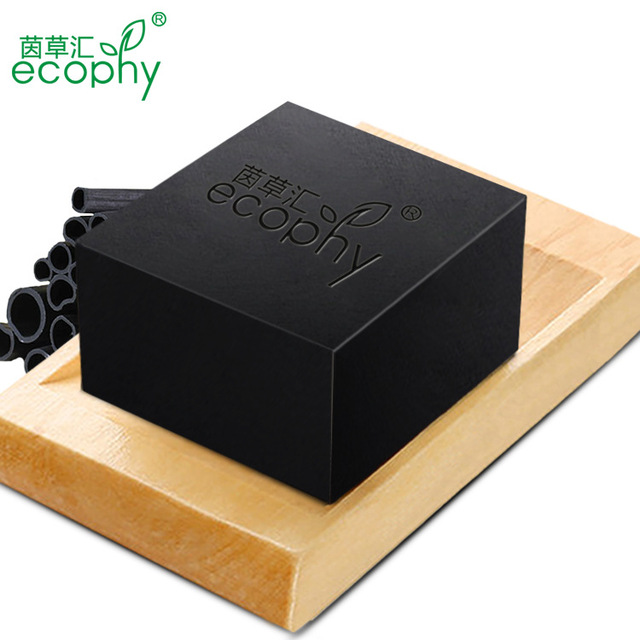 Ecophy Bamboo Charcoal Handmade Soap Skin Whitening Soap Blackhead Remover Acne Treatment Face Wash Hair Care Bath Skin Care