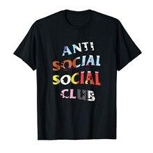 7cadef60d066 GILDAN marka mężczyźni koszula Antisocial społecznej klub Bt21 Tshirt Kpop  Banner Bt21 klub(China)