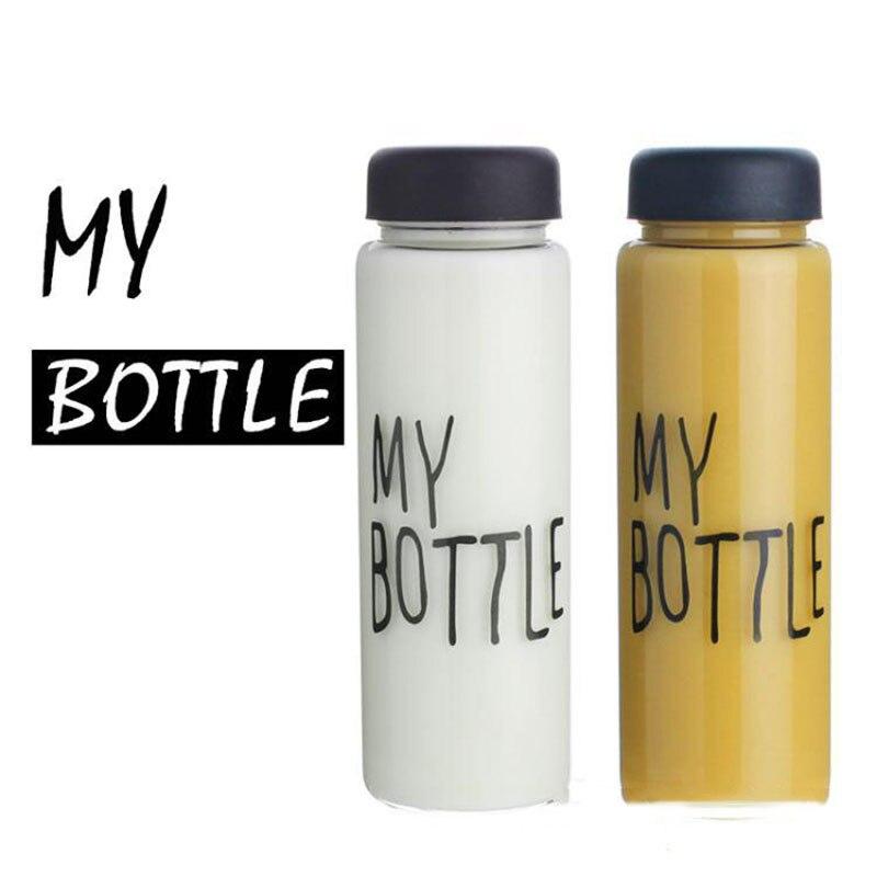 Free Shipping 500ml High Transparent Glass Water Bottle No Lead Free Linen Bag Boracillicate Glass Made