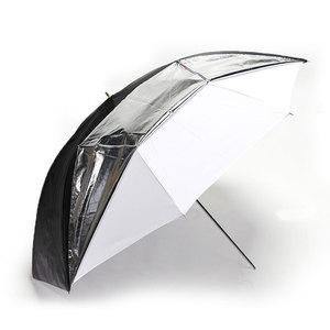 "Image 2 - Godox 33"" 84cm Double Layers Reflective and Translucent Black White Umbrella for Studio Flash Strobe Lighting"
