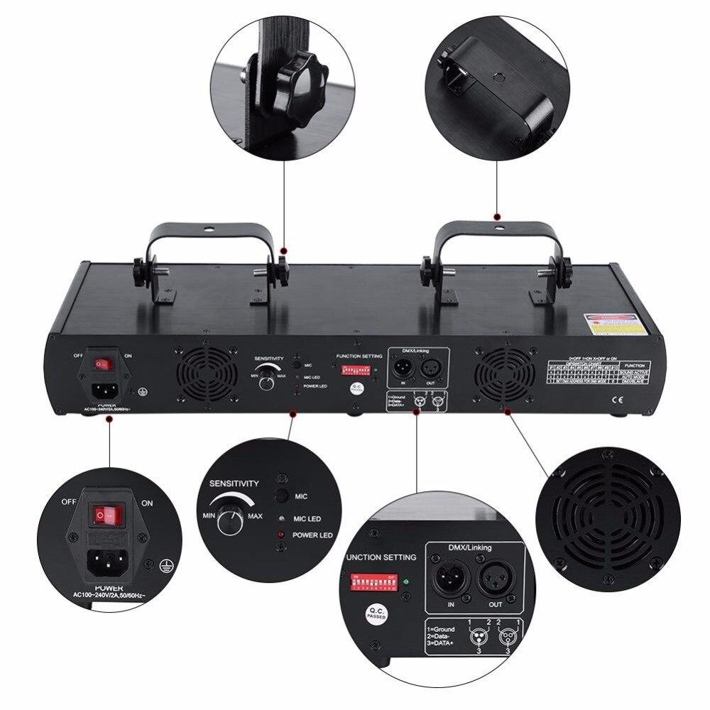 4Lens 30W Laser Stage Light 7CH DMX512 Sound Disco DJ Light Actived Party Effect Lights Lamp EU Plug 220 240V in Stage Lighting Effect from Lights Lighting