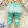 2017 Calças Menina Bonito Algodão Sólida Calças Do Bebê Primavera Outono Bebê Menina Infantil Pant Roupa Do Bebê