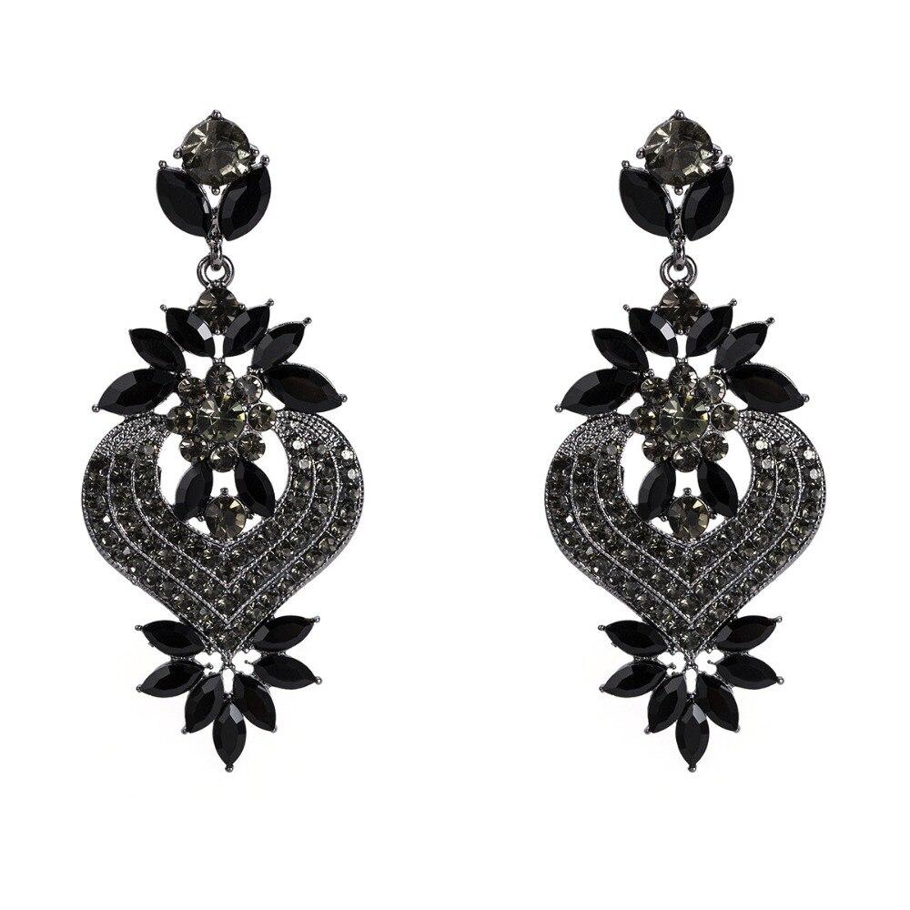 Rhinestone Statement Earrings For Women Flower Drop Dangle Earring 19 Fashion earing Trendy Wholesale Wedding Jewelry 4