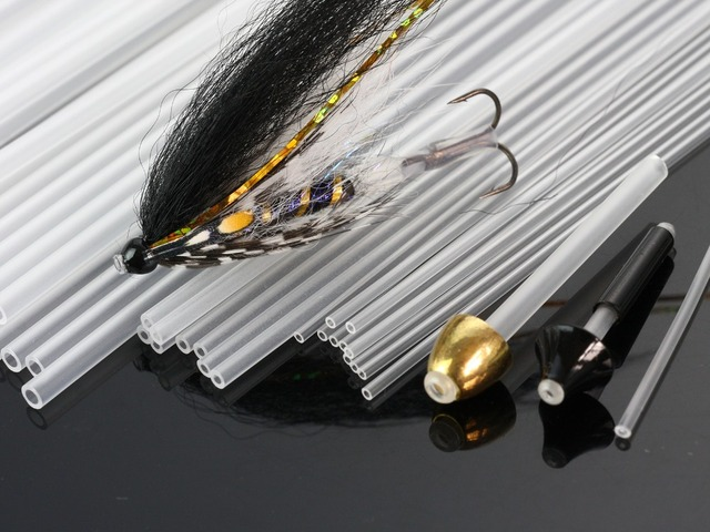Fly Tying Tubes Rigid Tubing Tube Flies Tying Material Available In 4 Sizes,Clear