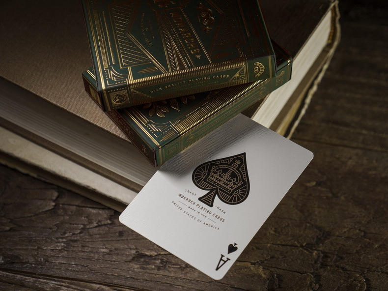 1 Deck Of Theory11 Green Monarchs Playing Cards Monarch Deck Poker Magic Cards Close Up Magic Tricks For Professional Magician