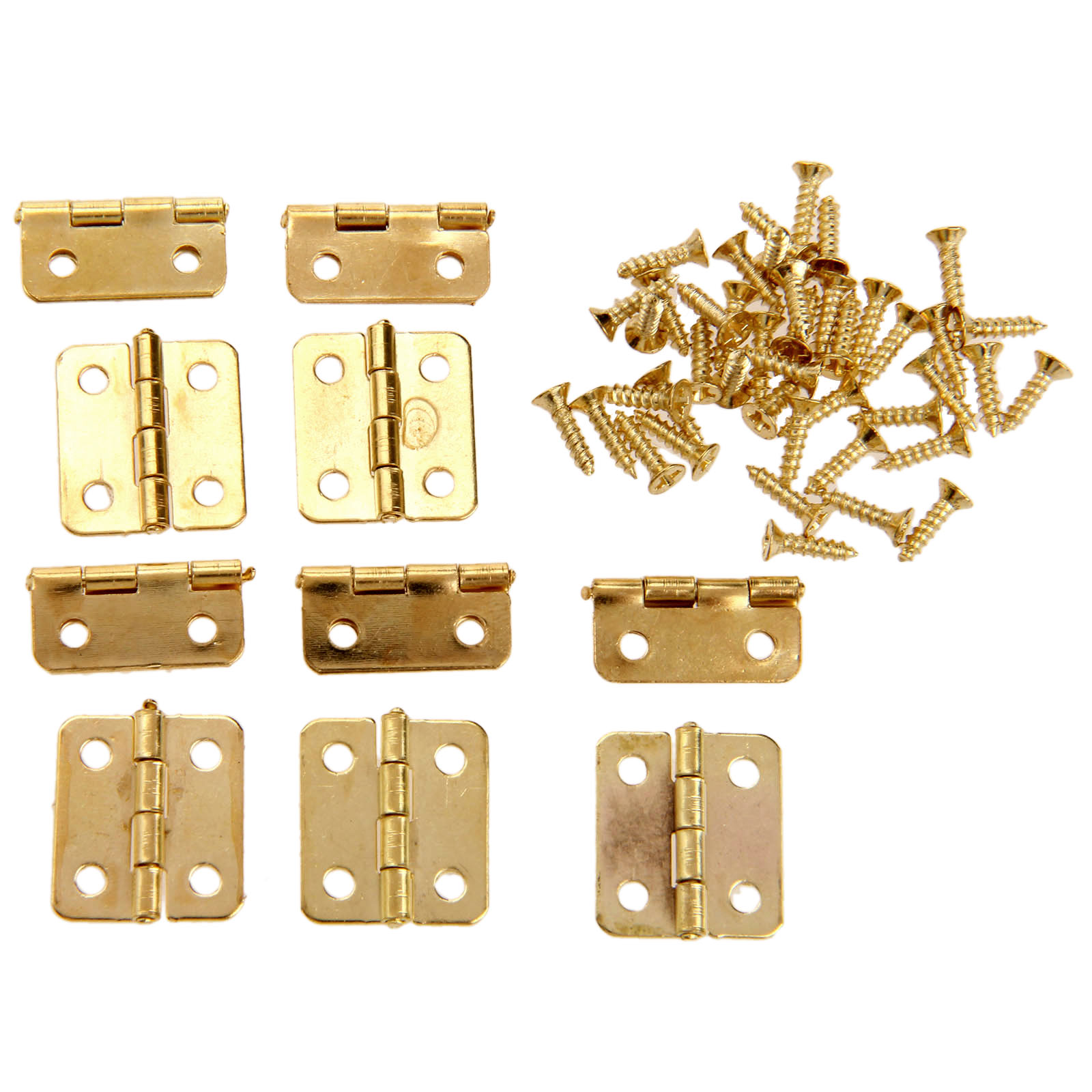 Http Www Aliexpress Com Item 10pcs Kitchen Cabinet Door Hinges Furniture Accessories 4 Holes Gold Drawer Hinges For Jewelry Boxes Furniture 32749605466 Html