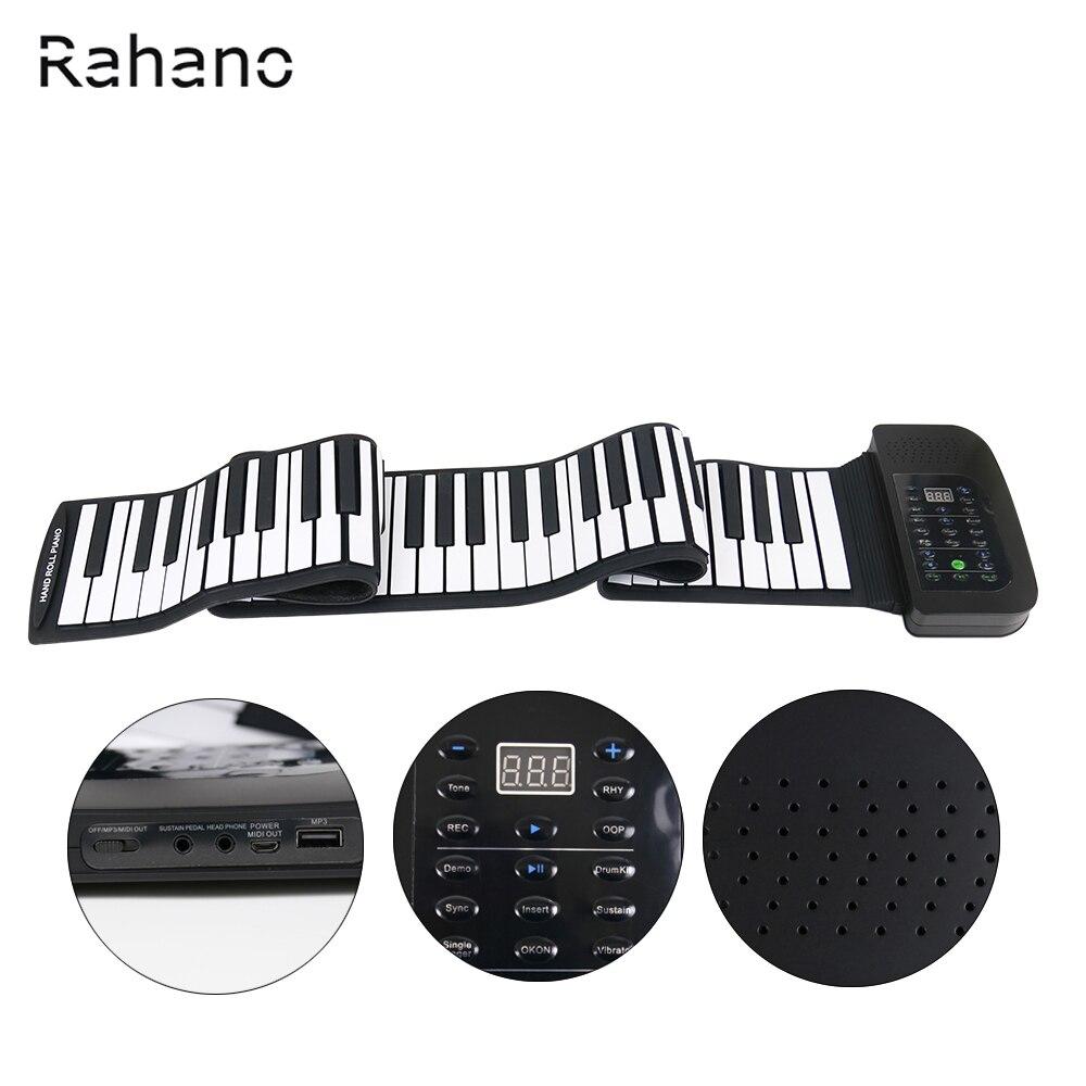 Rahano 88 Clé Blanc MIDI Électronique Flexible Roll Up Piano PA88 Avec Batterie