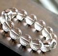 Grânulos de cristal branco Natural pulseiras pedras naturais da linha elástica pulseira mulheres homens jóias pulseira moda pulseira