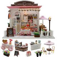 Cutebee Doll meble domowe miniaturowy domek dla lalek DIY miniaturowy domek pokój Box teatr zabawki dla dzieci naklejki DIY domek dla lalek K