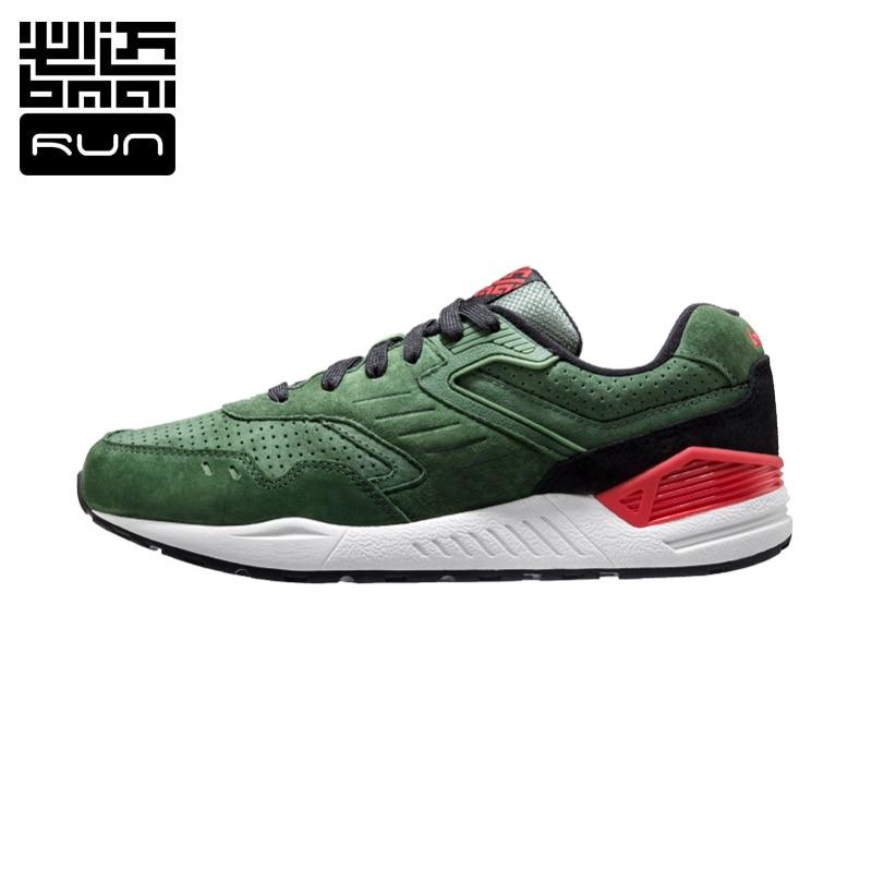 Sport Shoes Men 2016 Genuine leather Retro Running Shoes 3M Authentication Waterproof Men s Sneaker Size