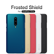 For OnePlus 7 Pro Phone Case Original NILLKIN Matte Frosted Shield Back Cover For OnePlus 7 Pro Case with mini phone holder стоимость