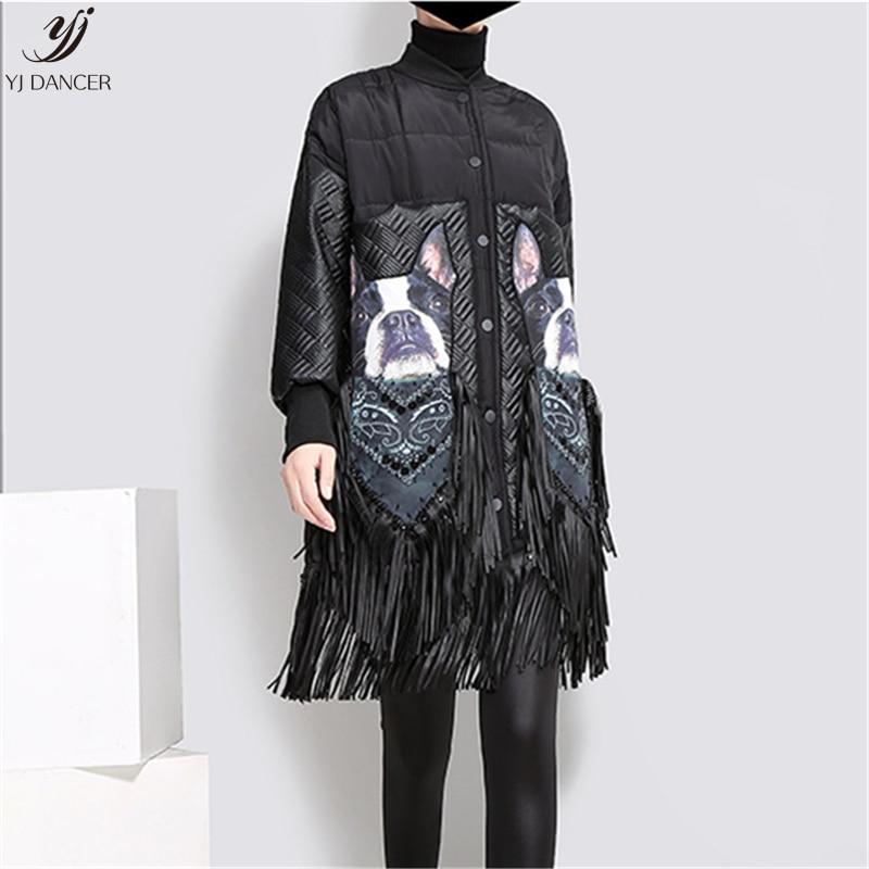 Pain Lâche D'hiver Vêtements Hjb410 Rue De Gland Veste Manteau Nouveau Femelle Black Stand Coton 2018 Col Mode OIIw87