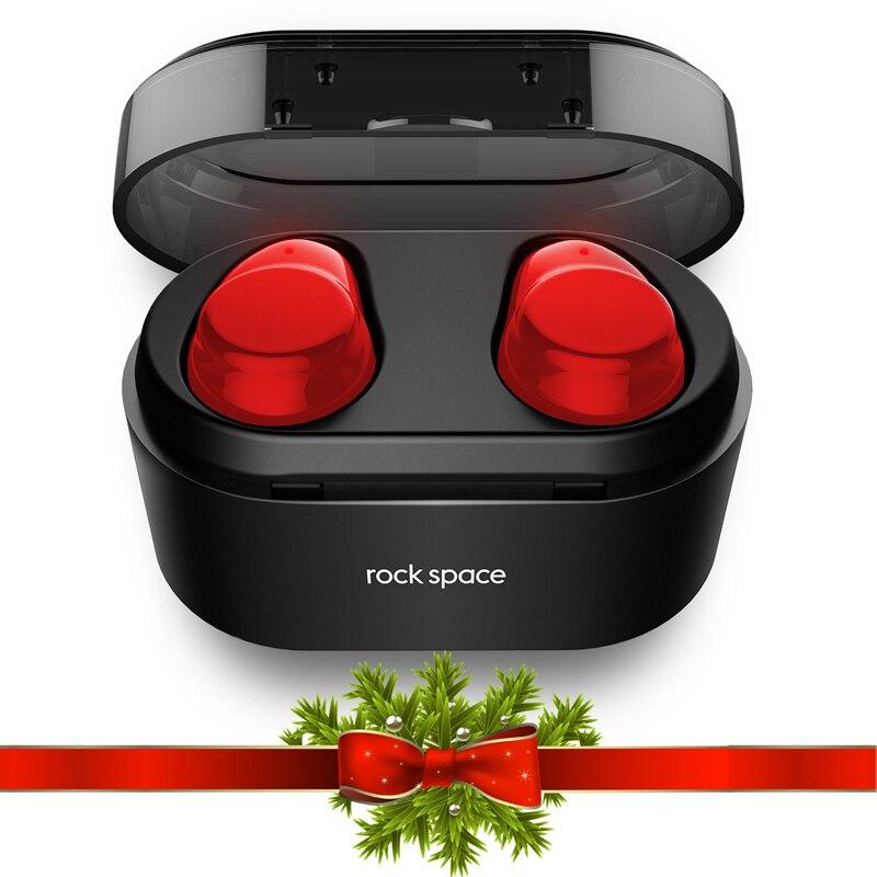 ROCKSPACE TWS Bluetooth Écouteurs Écouteurs Tactile Contrôle Hifi Stéréo Sans Fil Microphone pour Téléphone Avec Chargeur De Charge Boîte Mini
