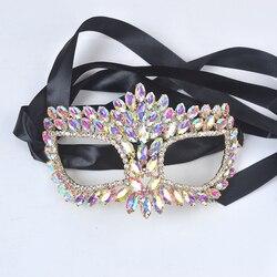 Kristal markiz tipi Takı maskesi Yortusu için Alaşım metal taklidi gümüş sürpriz festivali Masquerade Maske Takı