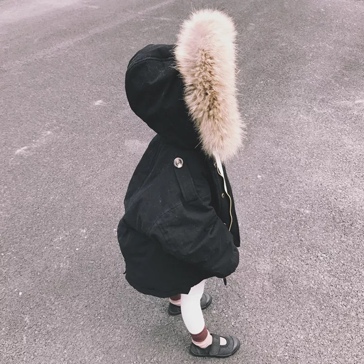 2017 Baby Coat Fur Collar Fashion Winter Outerwear & Coats 90% Down Jacket Kids Boys Girls Winter Coats	Boutique Kids Clothes new winter women long style down cotton coat fashion hooded big fur collar casual costume plus size elegant outerwear okxgnz 818