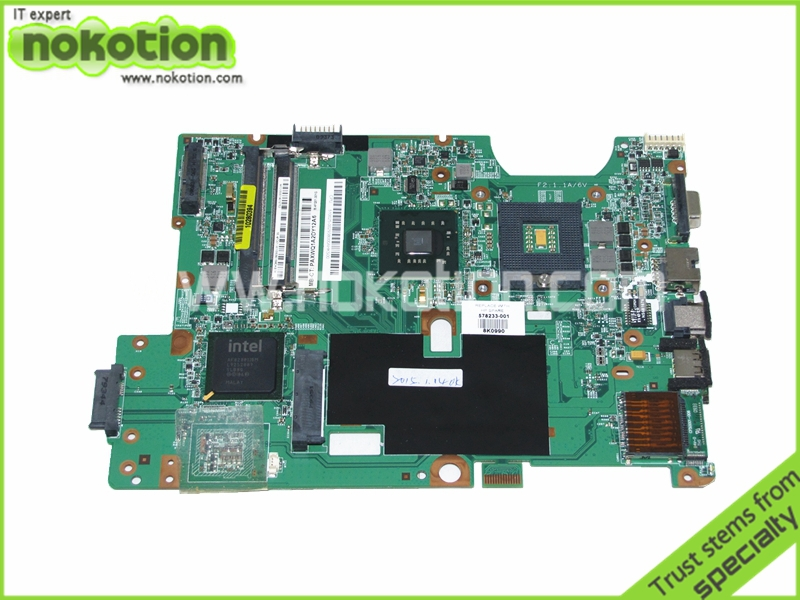 NOKOTION 578233-001 48.4FQ01.011 laptop motherboard for hp compaq G60 CQ60 GM45 DDR2 Full Tested