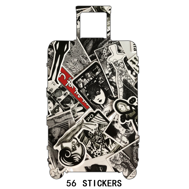 10Pcs Horror Comics Stickers Japanese ITO leap Second Decal for Snowboard Laptop Luggage Car Fridge Car-Styling Vinyl Home