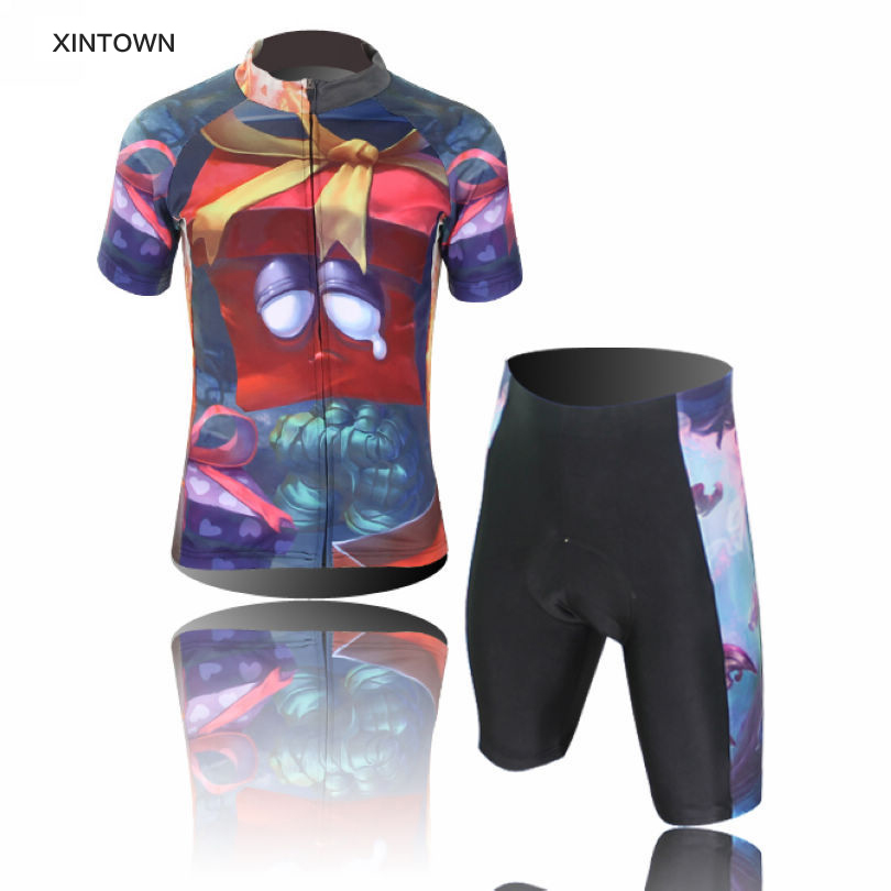 ФОТО 2016 XINTOWN Children Cycling Jersey Short Sleeve Jersey Ropa Ciclismo Bike Bicycle Clothing For Spring Summer Autumn CC0412