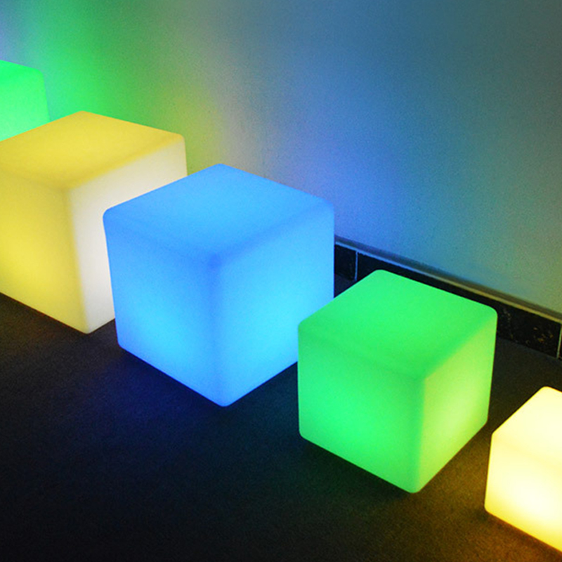 Creative Square LED Night Light Remote LED Colorful Changing Mood Cubes Night Lamp Rechargeable Glow Light Home Decor Lights DA