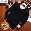 Preppy Style 2016 Men Fashion V-Neck Fleece Computer Knitting Sweater Men Business Causal Pullovers Sweater Young Boys Sweater