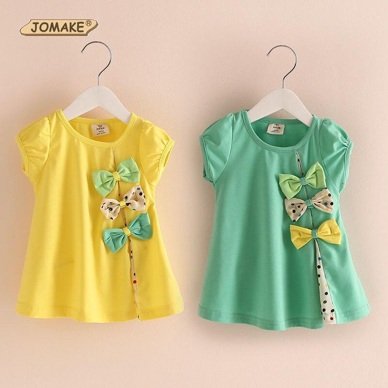 Polka dot bow baby girl t shirt candy color princess tops for Newborn girl t shirts