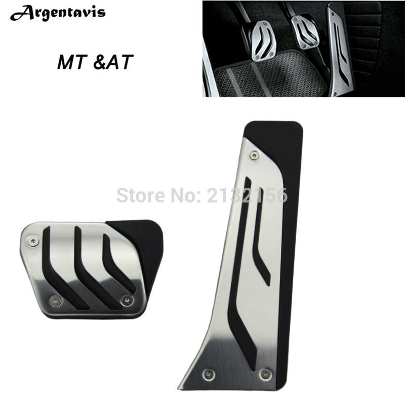 Stainless Steel Car Fuel Coche Brake Pedals Plate Fit For