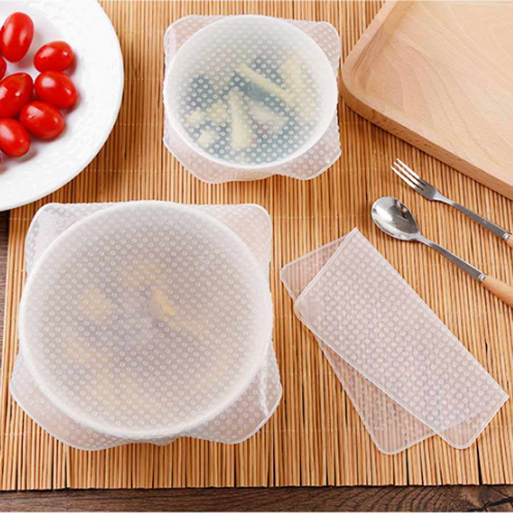 High Quality Multifunctional Food Fresh Keeping Wrap Kitchen Tools Reusable Silicone Food Wraps Seal Vacuum Cover Lid Stretch