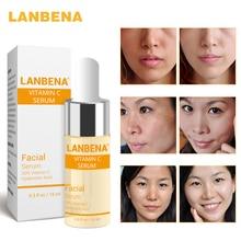 LANBENA C vitamin C fehérítő szérum Hyaluronsav Arc krém Csiga eltávolító Szájfolt Speckle Fade Dark Spots Anti-Aging bőrápolás