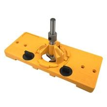 Горячая Распродажа, спиральная направляющая для сверления отверстий 35 мм В Форме Стакана с шарниром+ Форстнер-сверло, резец по дереву, плотник, деревообрабатывающий инструмент, сделай сам
