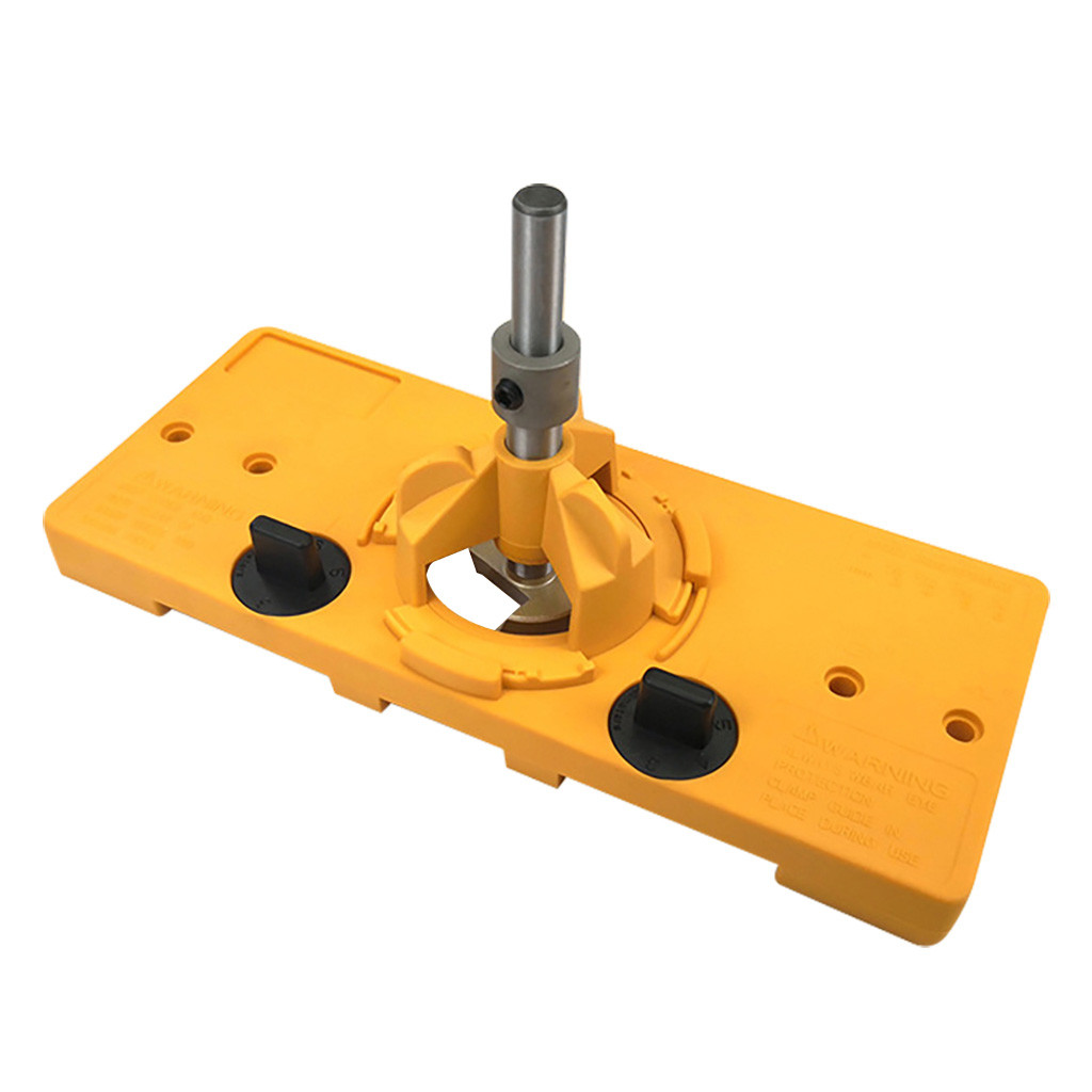 2019 Hot Concealed 35MM Cup Style Hinge Jig Boring Hole Drill Guide + Forstner Bit Wood Cutter Carpenter Woodworking DIY Tools