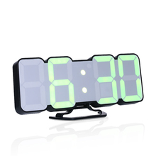 цена Digital Wall Clock Time Alarm Clock LED Table Clock With 115 Colors Remote Control Digital Watch Night Light Magic Desktop онлайн в 2017 году