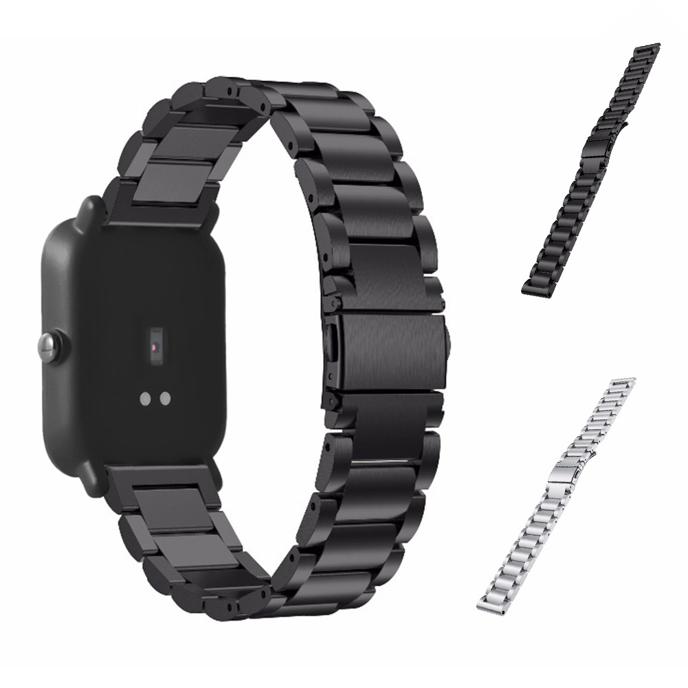 20mm Smart Watchband Stainless Steel Watches Strap Replacement Watch Band For Xiaomi Huami Amazfit Youth Bit GDeals