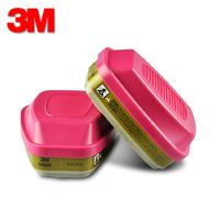 3M 60926 Multi Gas/Vapor Cartridge/Filter Respiratory Protection AgainstOV/CL/CD/HC/AM/MA/SD/HF/HS/FM Use with 3M Face Mask H888