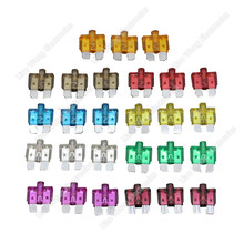 цена на 30PC 3A~40A Medium Size Auto fuse  inserts car insurance tablets small fuse with lamp   car inserts fuse
