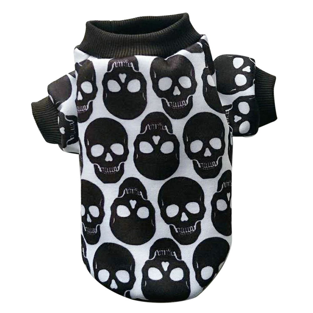 Dog Clothes For Small Dogs Pet Products Clothing Pet Puppy Small Dog Cat Pet Clothes Skull T-Shirt Apparel Clothes